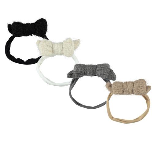 Hairy Mohair Bow Baby Headband