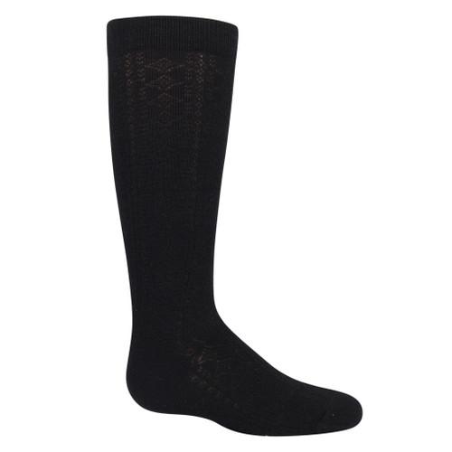 Girls Diamond Knee Sock