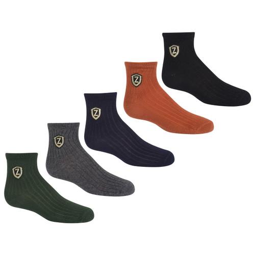 Girls Crest Ankle Sock
