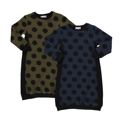 Girls Big Dot Sweatshirt Dress