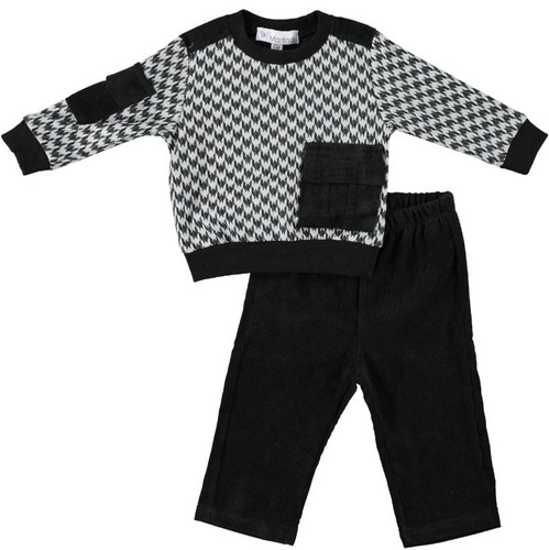 Baby Boys Houndstooth Print 2Pc Outfit