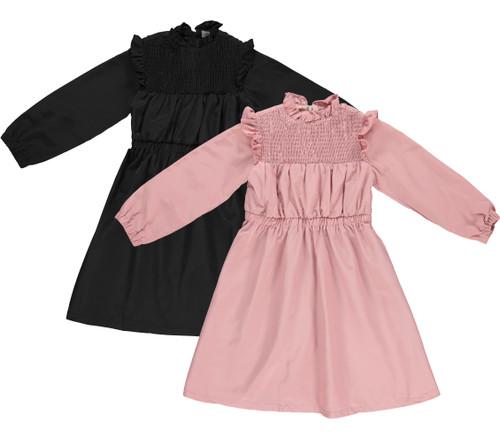 Girls Vintage Ruffle Shabbos Dress