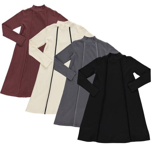 Girls Ribbed Dress