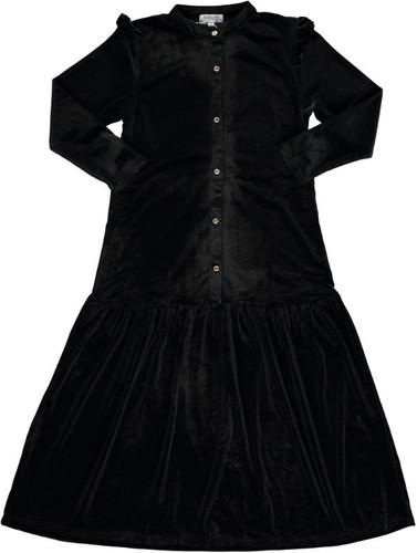 Girls Solid Black Shabbos Robe