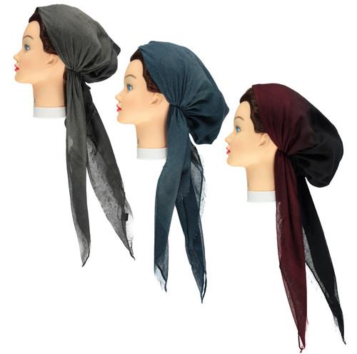 Women Winter Ombre Pre-tied Headscarves