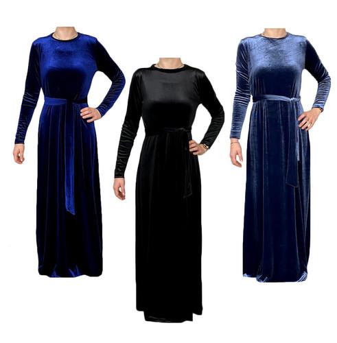 Women's Soft Velour Shabbos Robe
