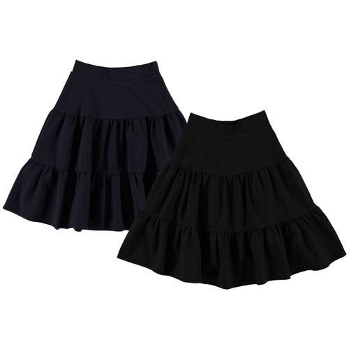 Girls Ponti 3-Tier Skirt