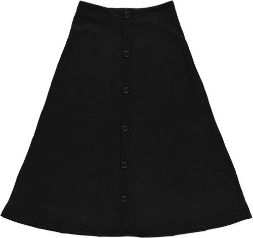 Women's Ribbed Maxi Skirt w/Buttons