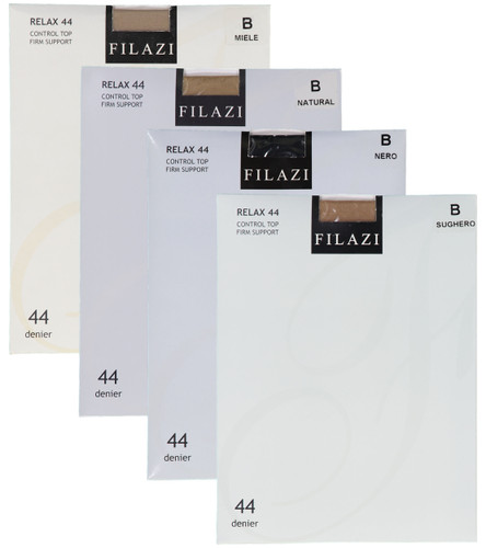 Filazi Womens Relax 44 Denier Control Top Firm Support Pantyhose