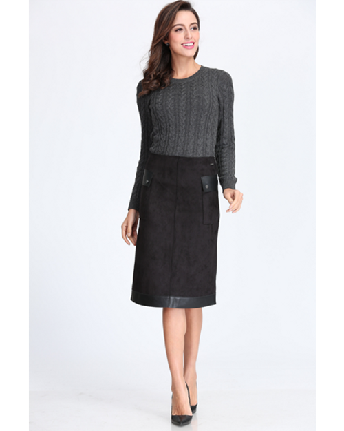 BGDK Ladies Suede Skirt