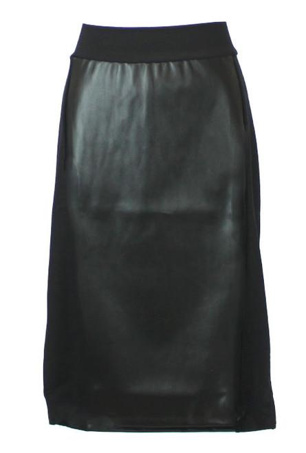 Kiki Riki Leather Panel Skirt