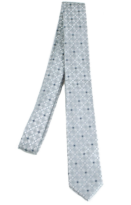 Boys Grey Knotted Tie
