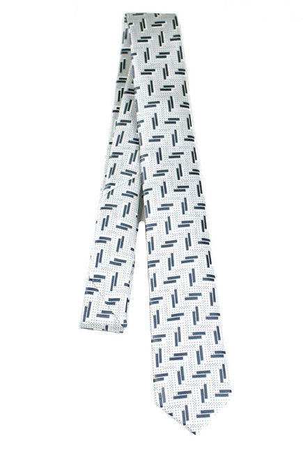 Boys White Lil Bar Tie