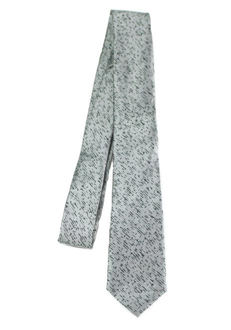 Boys Grey Lined Tie