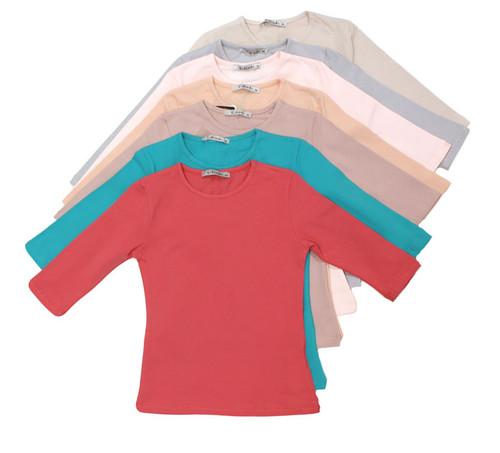 Kiki Riki Kids 3/4 Sleeve Shell Spring 18 Colors
