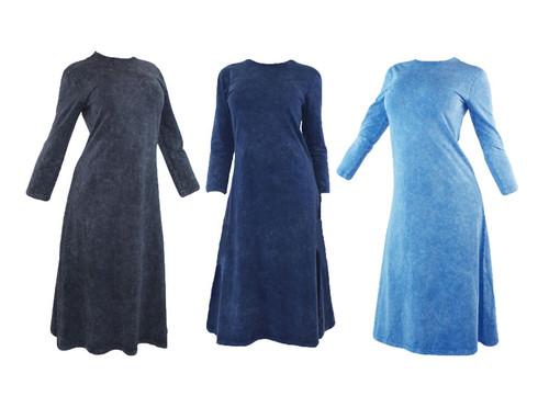 Kiki Riki Adult Stone Wash Shell Dress - A-Line