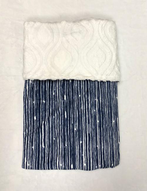Babyboo Collection Baby Blanket Navy Rainshower