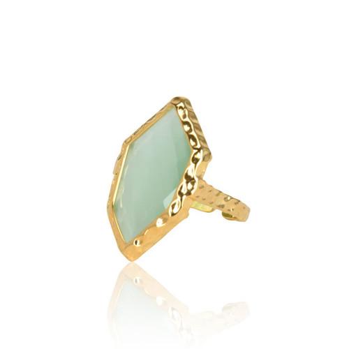 Turquoise Rhombus Ring