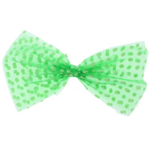 Riqki Polka Dot Sheer Bow Headband