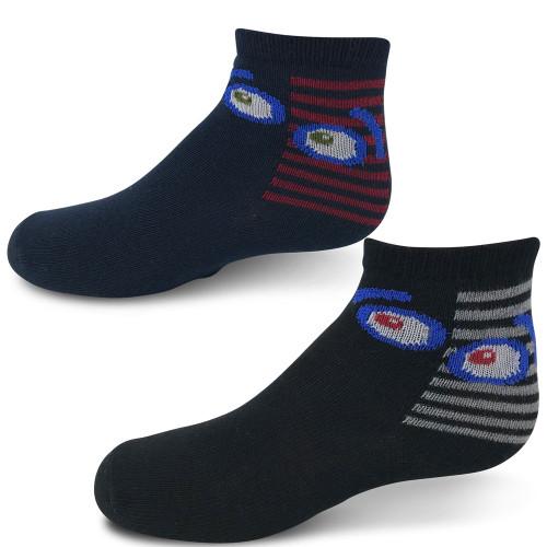 Zubbi Striped Eyes Ankle Sock