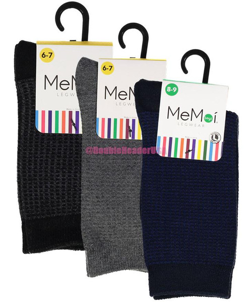 b0ac76ac4 Memoi Boys Diamond Texture Dress Socks