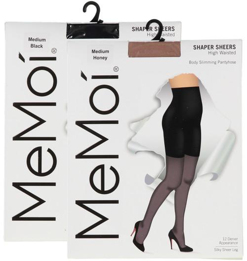 bb8f239e832 Memoi Womens High Waisted 12 Denier Body Slimming Pantyhose