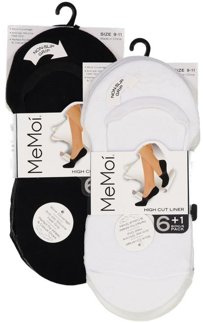 1746aed92e6 Memoi Womens High Cut Shoe Liner 6 Pack
