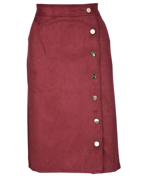 975cafc3a8 BGDK Ladies Suede Straight Skirt - Double Header USA