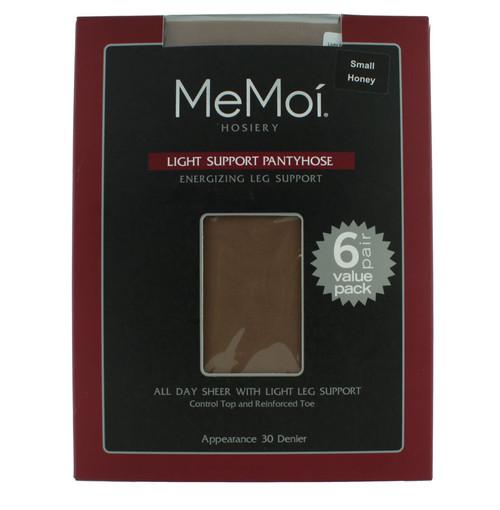 NEW 6 pairs MEMOI Light Support 610 SHEER ENERGIZING Black PANTYHOSE sz X-TALL