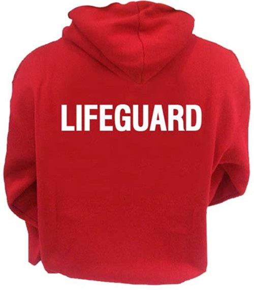 "Red ""LIFEGUARD"" Hoodie"