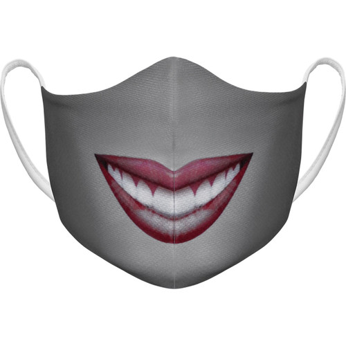 Athletic Knit Adult Large Reusable Cloth Face Mask - Pucker Up