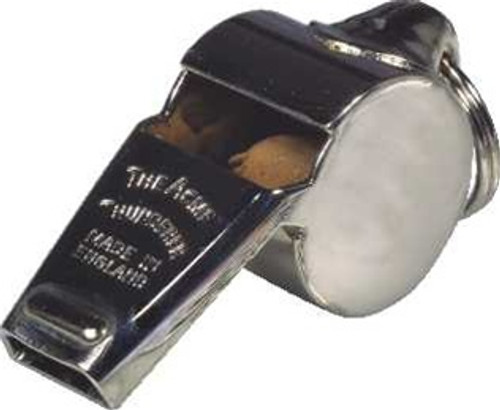 Acme small chrome whistle with lanyard ring