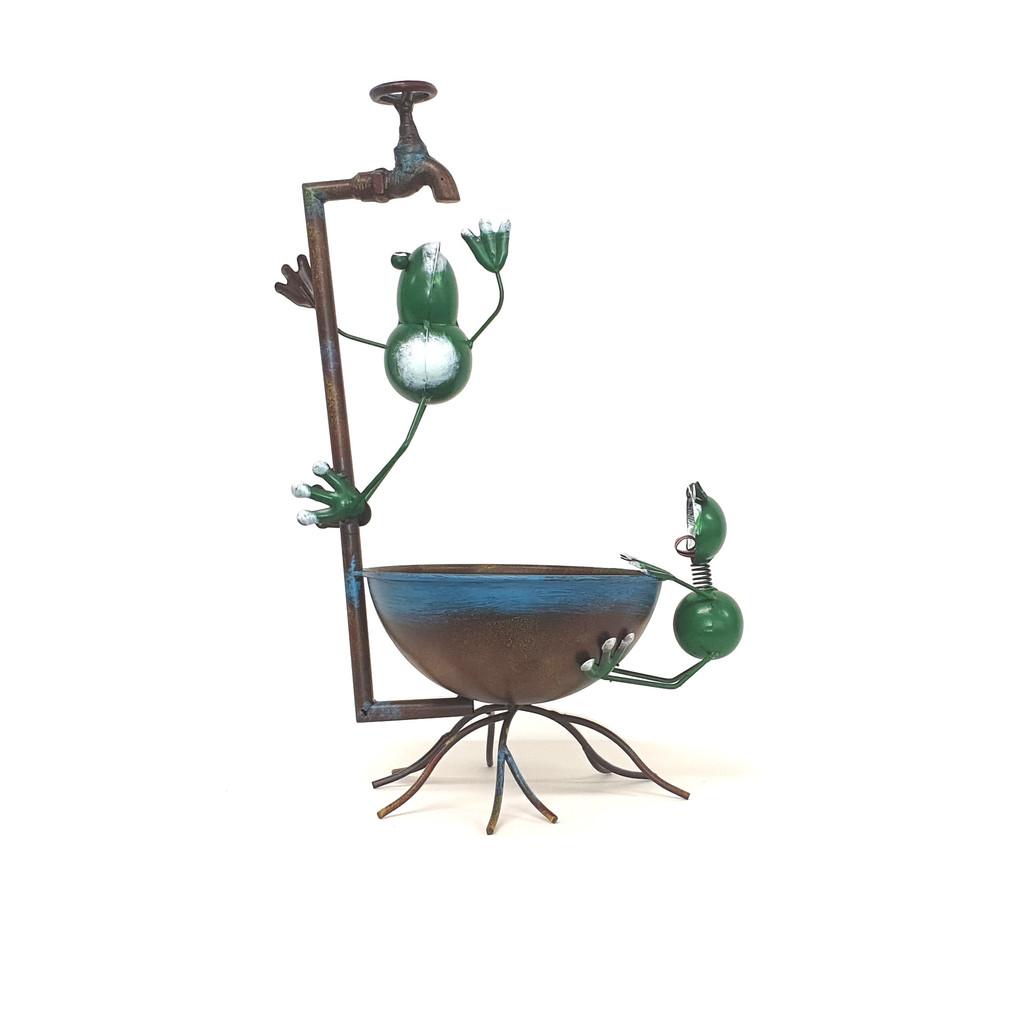 FROG BIRDBATH - G16775