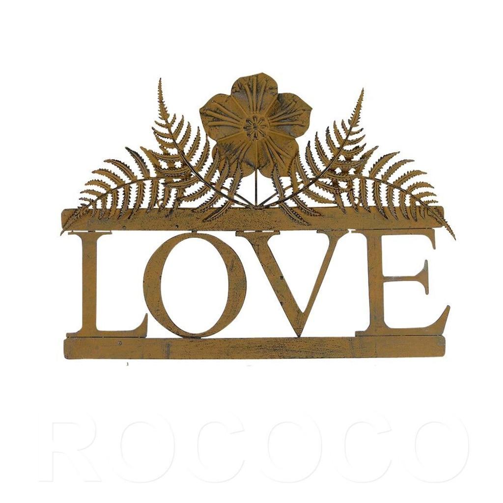 RUSTIC LOVE WALL ART - YH18080