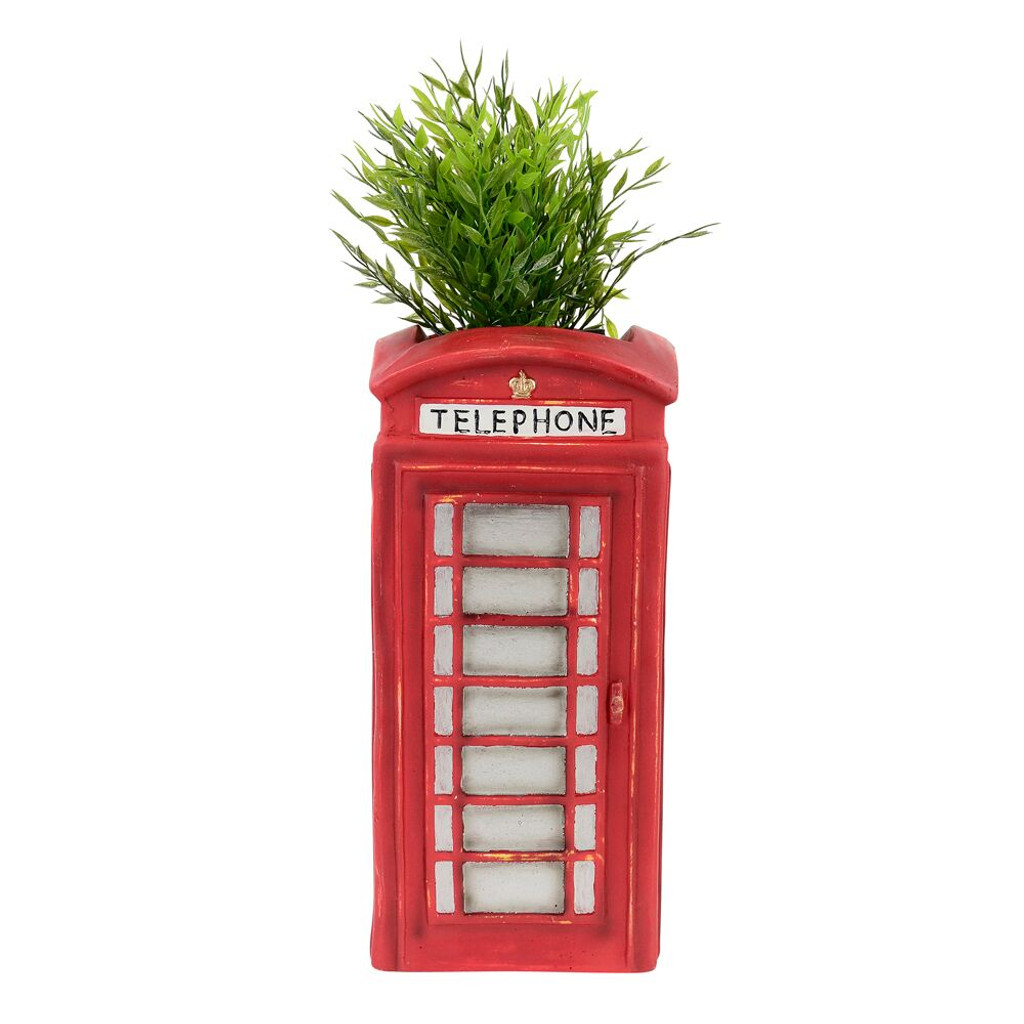 NOVELTY LONDON PHONE BOX PLANTER - LF002