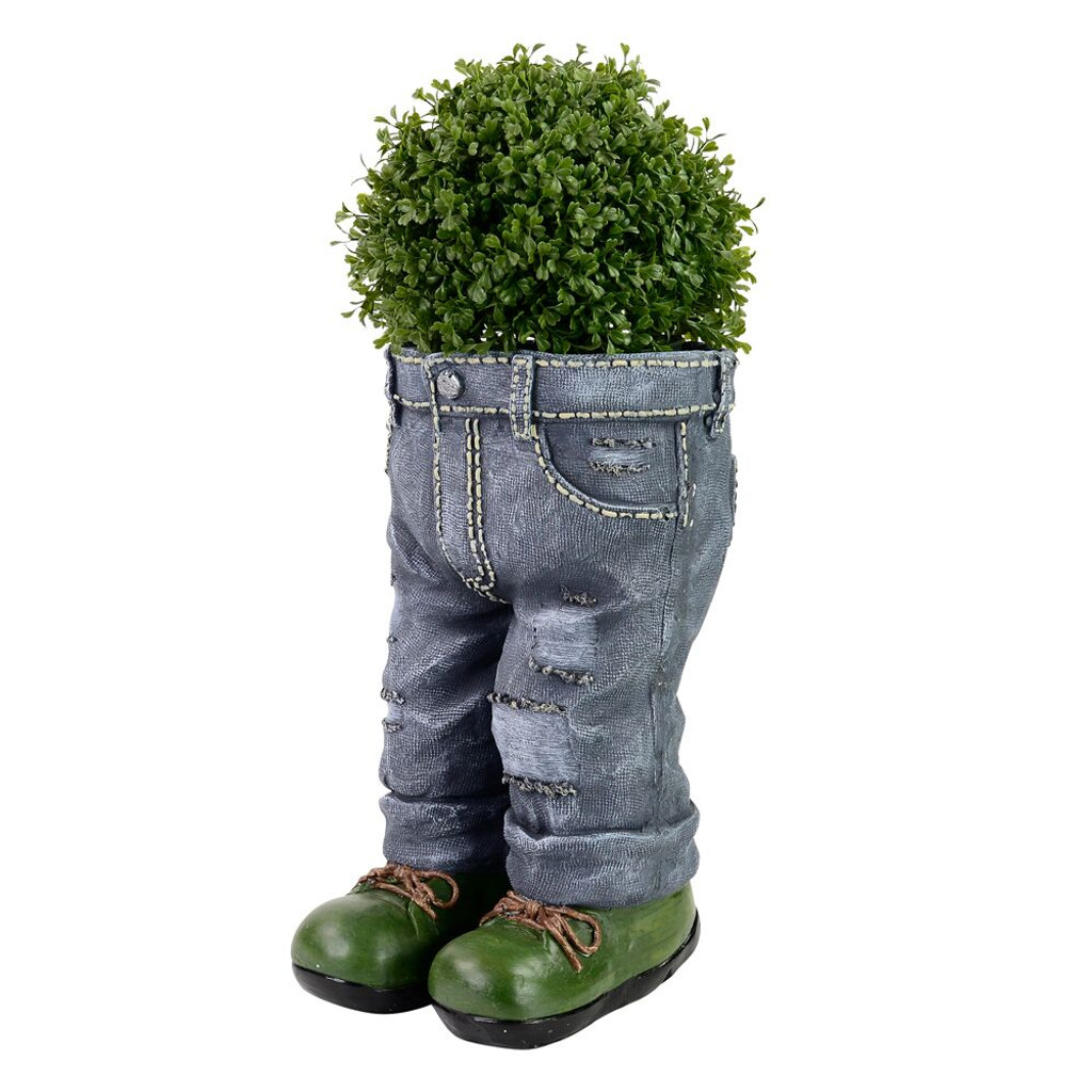 NOVELTY STANDING JEANS PLANTER - LF005