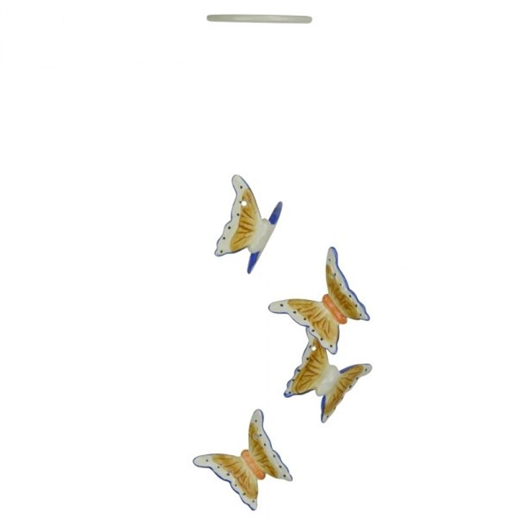 3D BROWN & BLUE BUTTERFLIES - PW14014