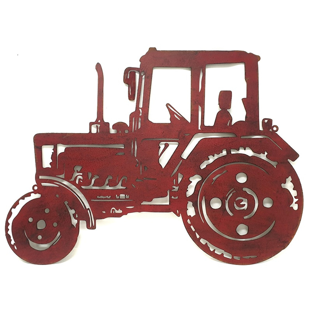 RED TRACTOR WALL ART - YH2016