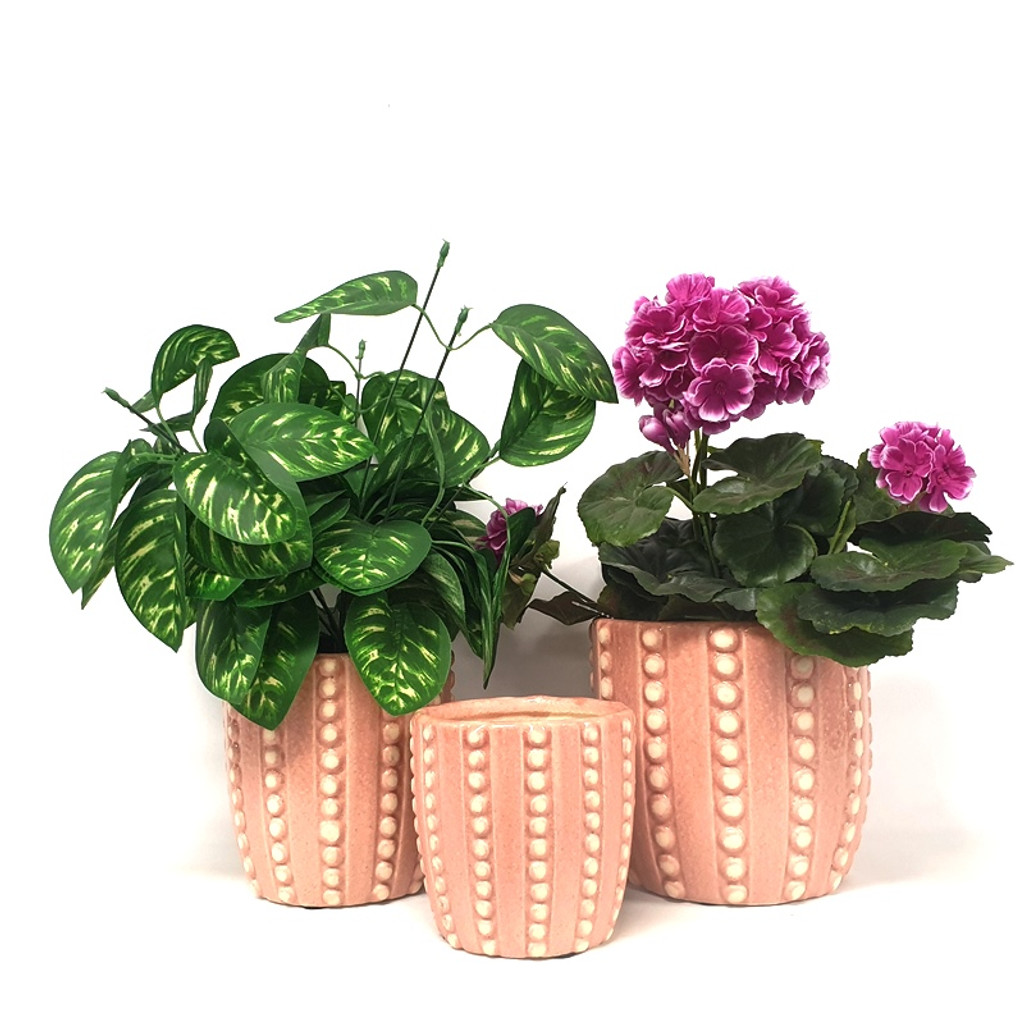 BLUSH BUBBLE POT SMALL - SY003