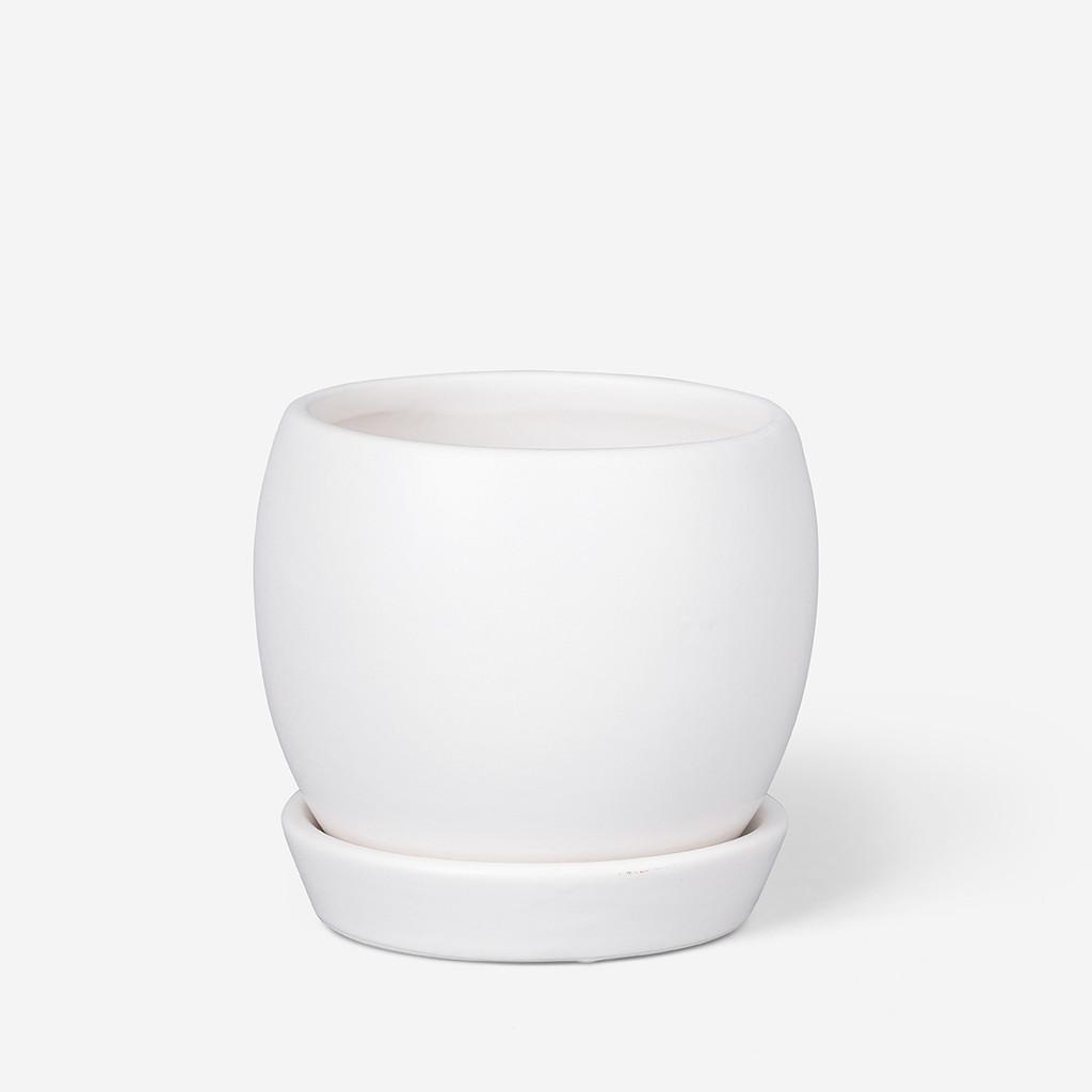 ROUND PLANTER MATT WHITE - SMALL - DHP0077