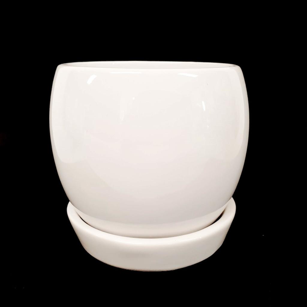 ROUND PLANTER  WHITE - XLARGE - DHP0077