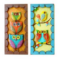 Wall Decor Owl.Bird (ASSORT) - EH25455