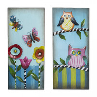 Wall Decor Owl/Butterfly - EH30001
