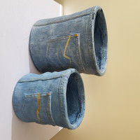 NOVELTY JEANS PLANTER POTS - SET OF 2 - LF007