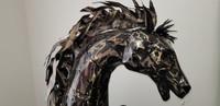 BLACK REARING HORSE (1.6 metre) - BHB18818