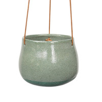 GREEN HANGING CERAMIC PLANTER - DHP0099