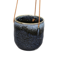 MEDIUM BLUE HANGING CERAMIC PLANTER - DHP0102