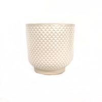 MEDIUM WHITE SHELL PLANTER - DHP0106