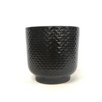 EXTRA LARGE BLACK SHELL PLANTER - DHP0110