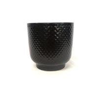 Large black shell planter - DHP0111